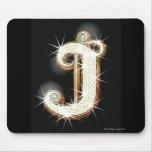 Bling alphabet J Mouse Pad
