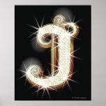 Bling alphabet J Poster
