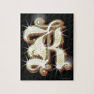 Bling alphabet K Jigsaw Puzzle