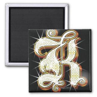 Bling alphabet K Magnets