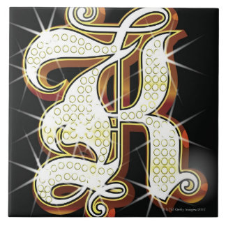 Bling alphabet K Tile