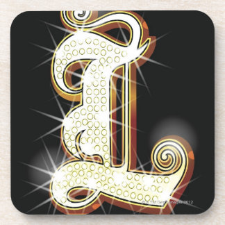 Bling alphabet L Coaster