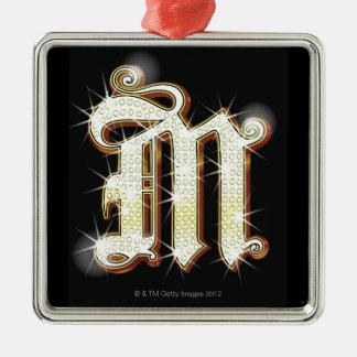 Bling alphabet M Christmas Ornament