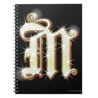 Bling alphabet M Notebook