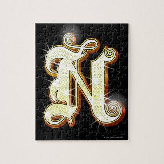 Bling alphabet N Jigsaw Puzzle