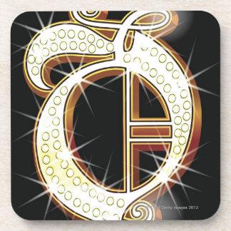 Bling alphabet O Coaster