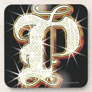 Bling alphabet P Coaster
