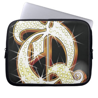 Bling alphabet Q Laptop Sleeve