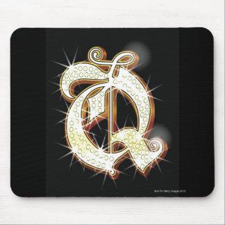 Bling alphabet Q Mouse Pad