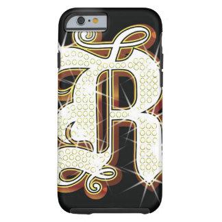 Bling alphabet R Tough iPhone 6 Case