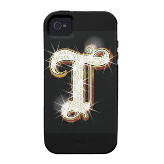 Bling alphabet T iPhone 4 Cover