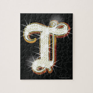 Bling alphabet T Jigsaw Puzzle