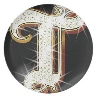 Bling alphabet T Plate