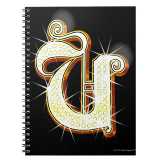 Bling alphabet U Notebook