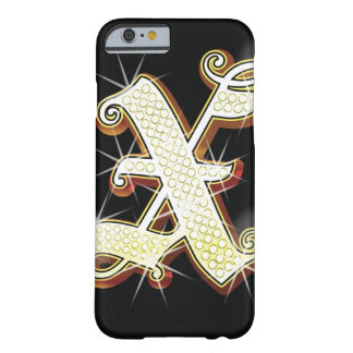 Bling alphabet X Barely There iPhone 6 Case