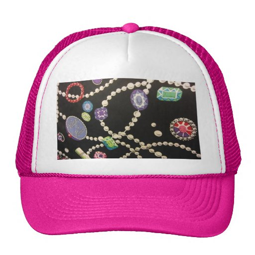 Bling and Pearls Mesh Hats
