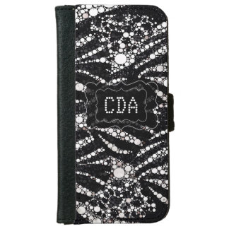 Bling Animal Print Monogram  iPhone6 Wallet Cases