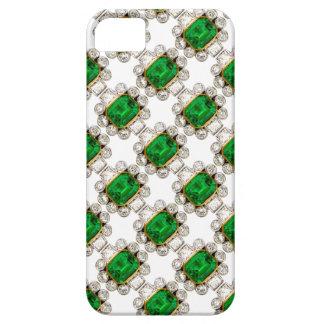 Bling Big Emeralds Diamonds Jewelry Iphone Case