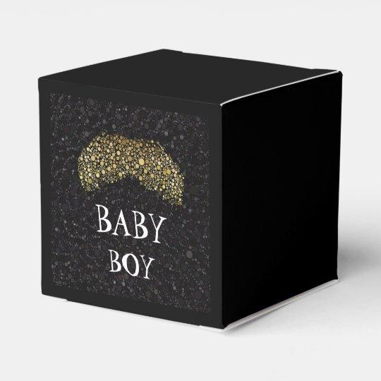 Bling black/Gold Moustache Party Favour Box