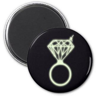 Bling bling! 6 cm round magnet