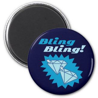 Bling Bling 6 Cm Round Magnet