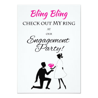 Bling Bling, Check Out My Ring - Engagement Invite