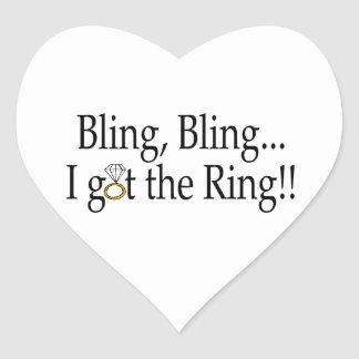 Bling Bling, I Got The Ring Heart Sticker