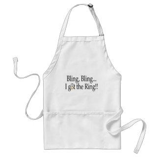 Bling Bling I Got The Ring Wedding Engagement Standard Apron
