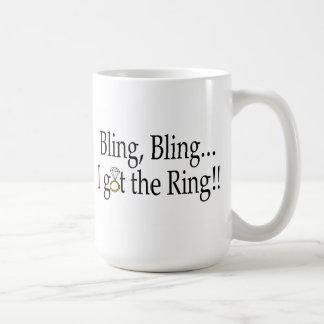 Bling Bling I Got The Ring Wedding Engagement Mugs