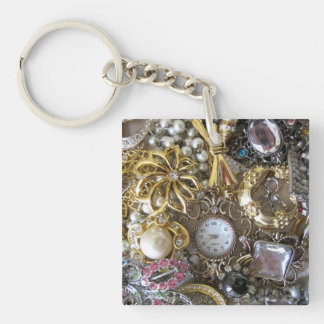 bling bling jewelry collection square acrylic keychains