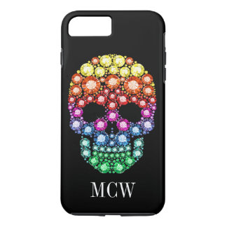 "Bling Bling - Skull Jewel ""Images"" iPhone 7 Case"