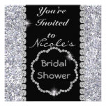 BLING Bridal Shower with CRYSTALS Invitation