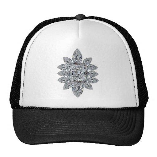 Bling Brooch Mesh Hat