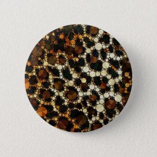 Bling Cheetah Print 6 Cm Round Badge