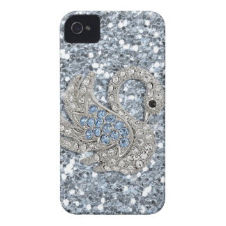 bling- cute swan iPhone 4 case