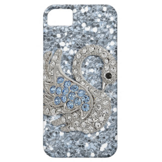 bling- cute swan iPhone 5 cover