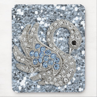bling- cute swan mouse pad