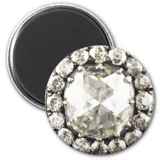 Bling Diamond Rhinestone Vintage Costume Jewelry Magnet
