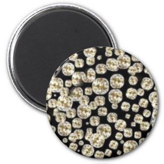 *BLING* Diamonds 6 Cm Round Magnet