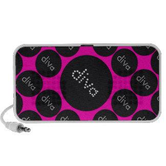 Bling Diva Polka-Dot pink/black PC Speakers