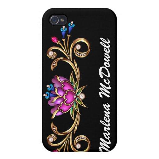 Bling Floral - SRF Case For iPhone 4