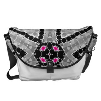 Bling Flower Abstract Courier Bags