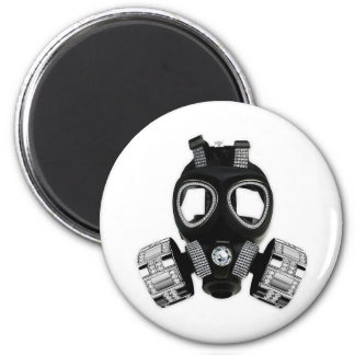 Bling Gas Mask 6 Cm Round Magnet