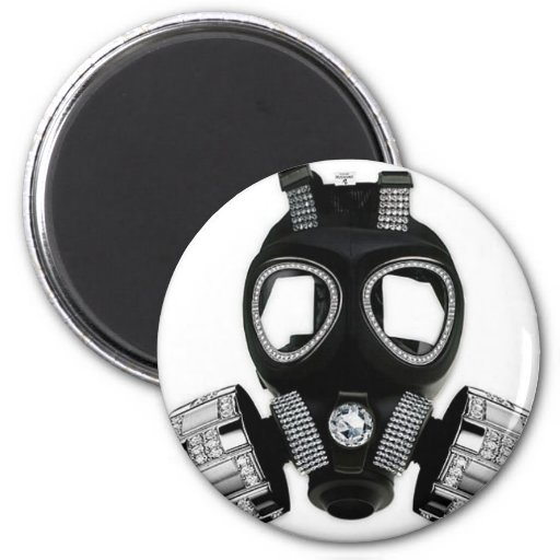 Bling Gas Mask Magnets