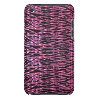 BLING Girly Pink & Black Zebra Graphic Phone Case iPod Touch Covers