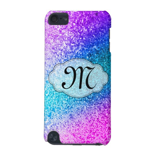 Bling Glitter Girly Monogram Initial IPOD Touch iPod