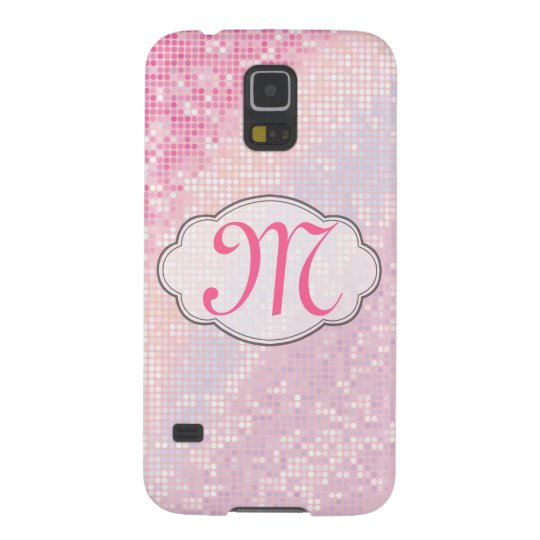 Bling Glitter Girly Monogram Samsung Galaxy S5 Case