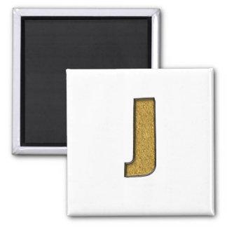 Bling Gold J Magnets