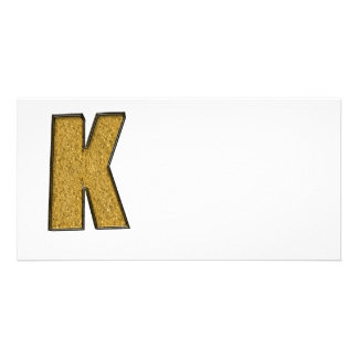 Bling Gold K Picture Card