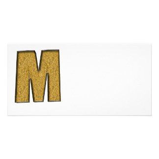 Bling Gold M Customized Photo Card